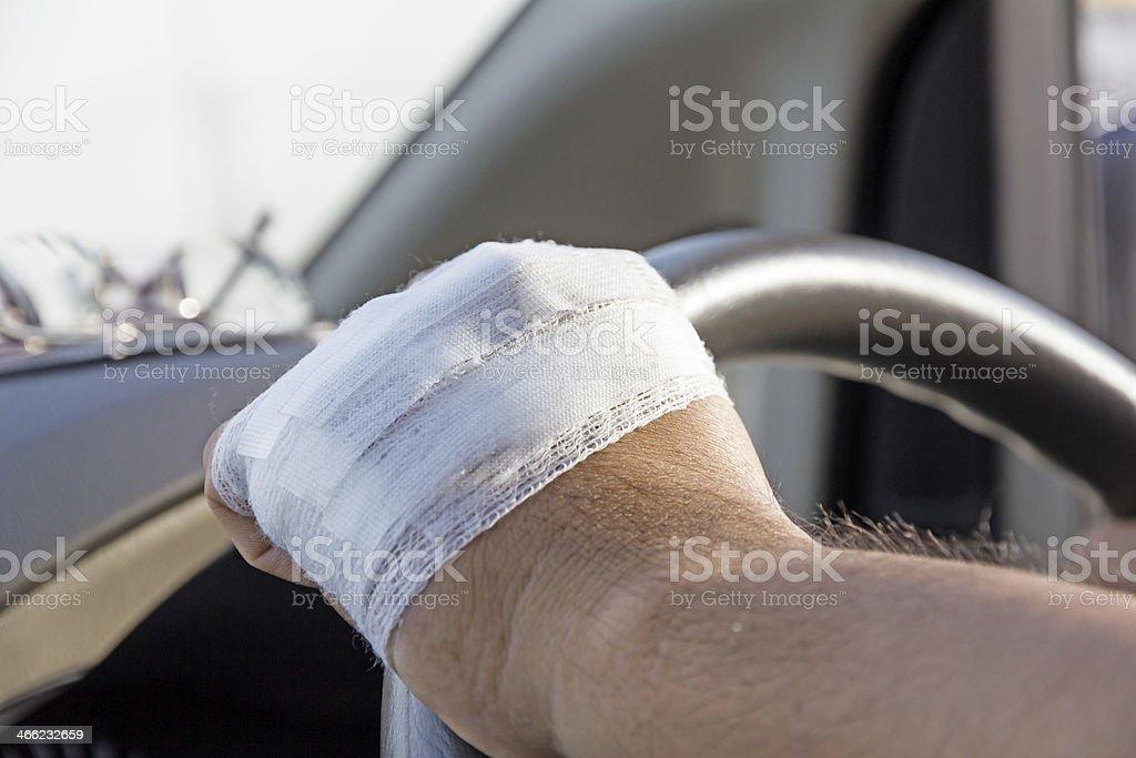 Bandaged hand royalty-free stock photo