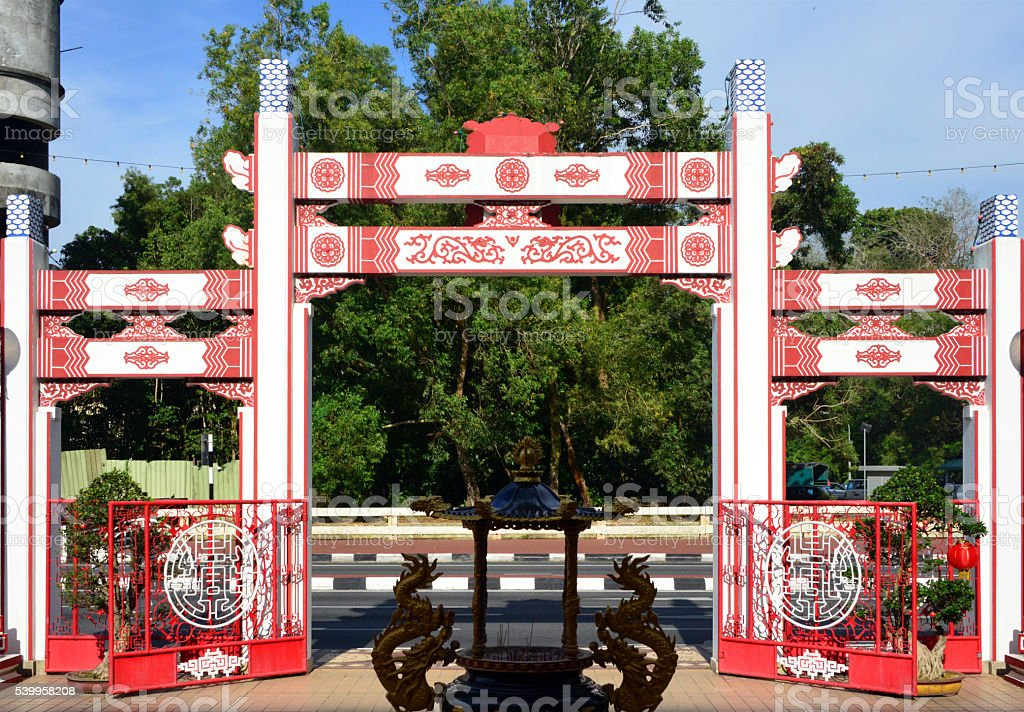 Bandar Seri Begawan, Brunei: Chinese Gate stock photo