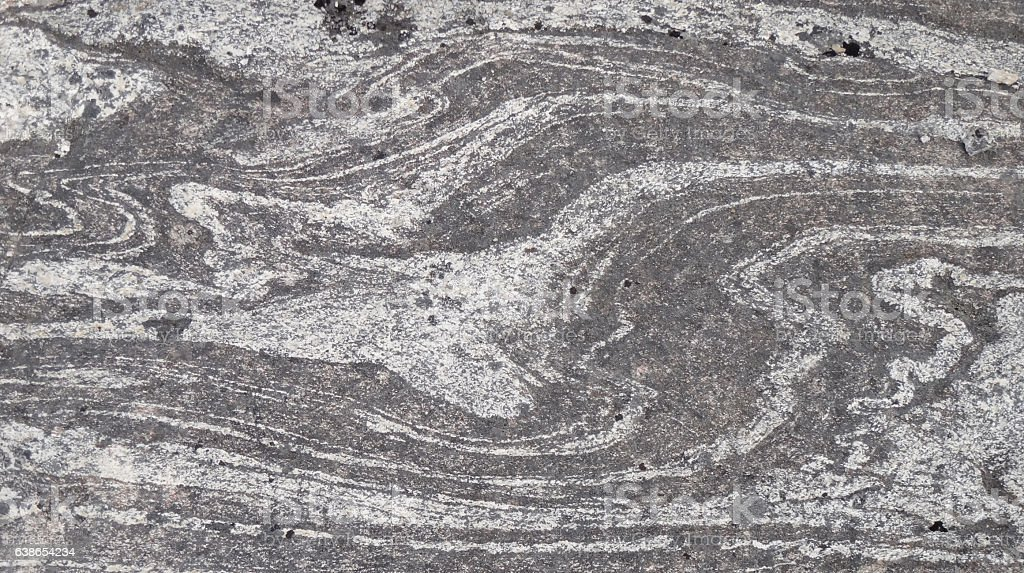 banded rock stock photo