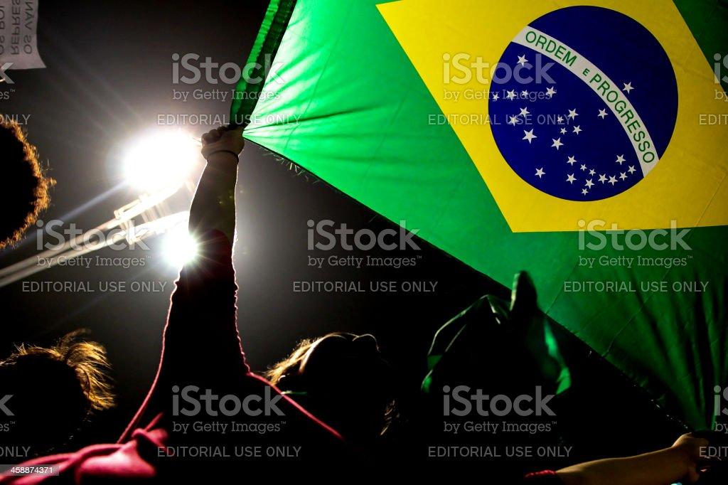 Bandeira do Brasil stock photo