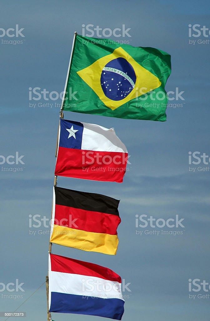 Bandeiras, Copa do Mundo 2014 stock photo