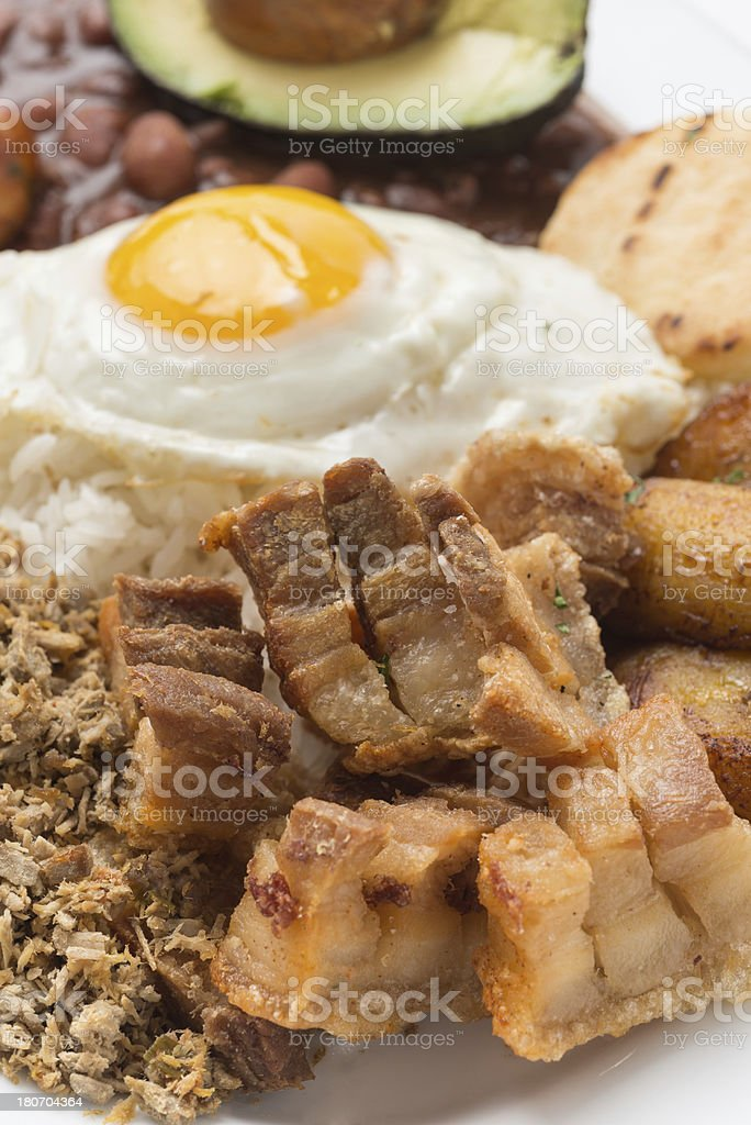 Bandeja Paisa (colombian food) royalty-free stock photo