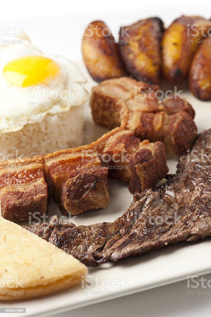 Bandeja Paisa (colombian food) royalty-free stock photo