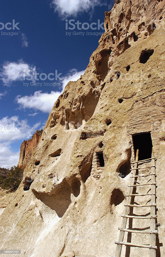 Bandelier National Monument Cliff Dwellings stock photo