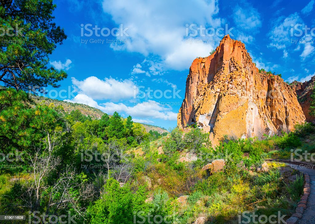 Bandelier National Monument stock photo