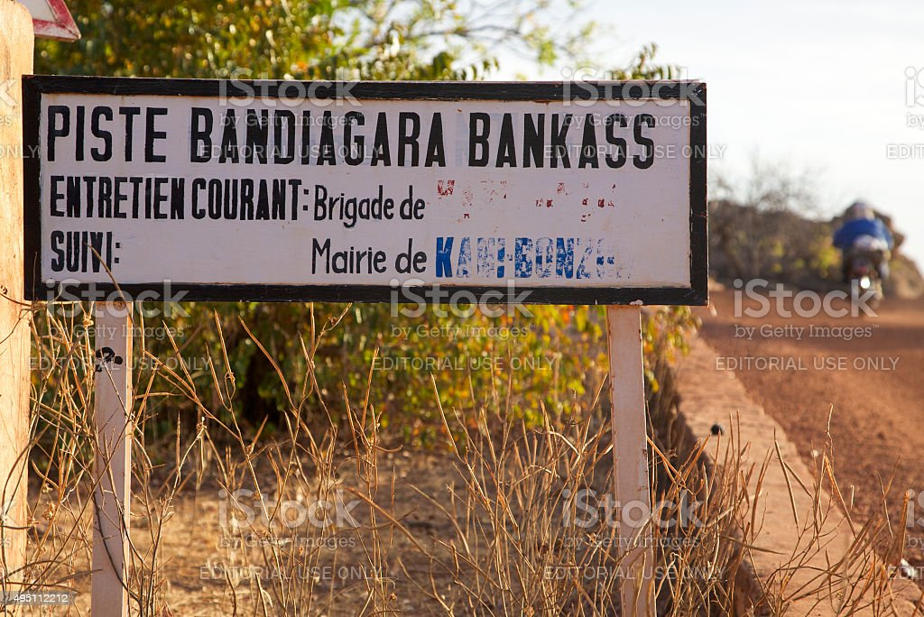 Bandiagara Bankass track stock photo