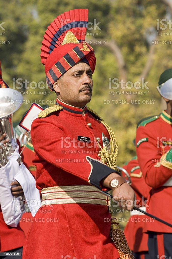 Bandmaster on Parade stock photo