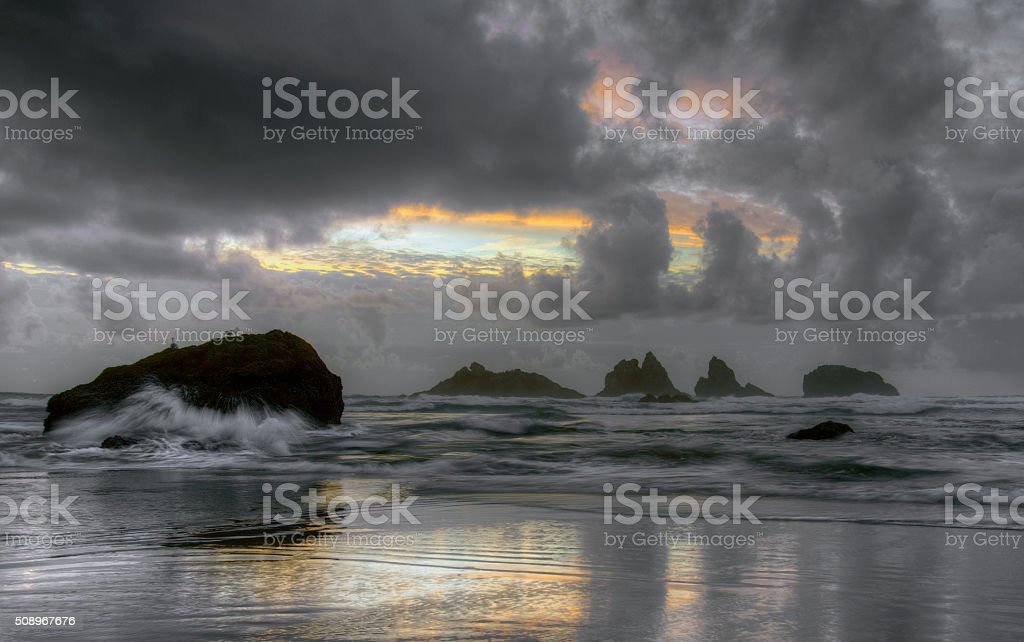 Bandon Beach, Oregon stock photo
