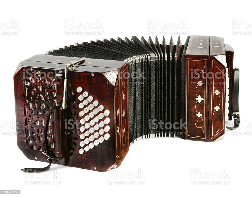 Bandoneon, tango instrument stock photo