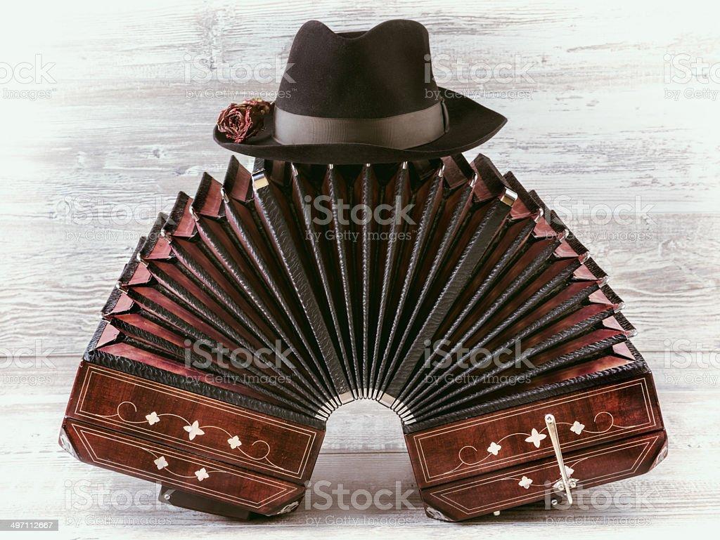 Bandoneon tango instrument stock photo