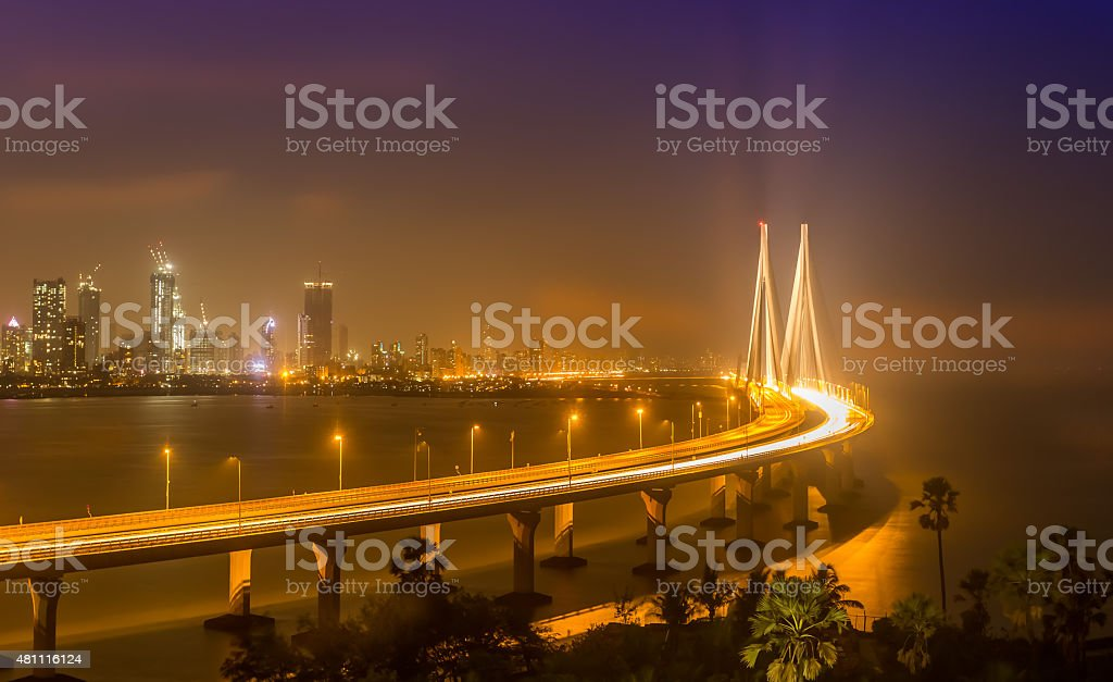 Bandra Worli Sea Link (Rajiv Gandhi Sea Link), Mumbai stock photo