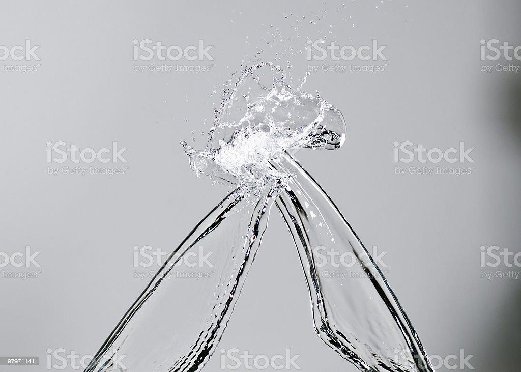 Bands of water splashing royalty-free stock photo