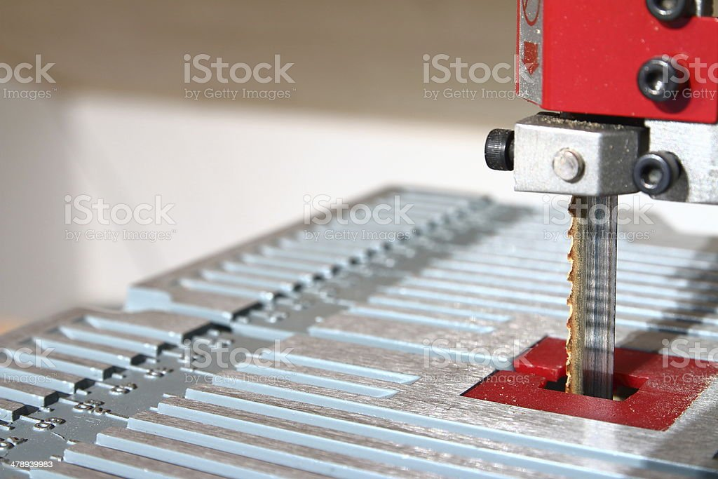 Band-saw close-up stock photo
