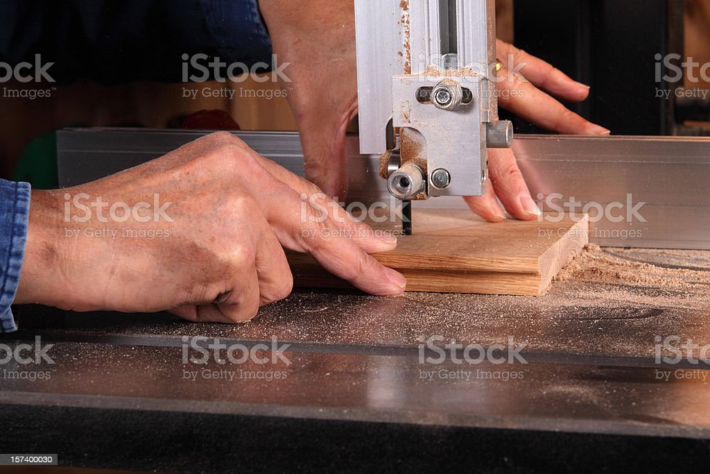 Bandsaw stock photo