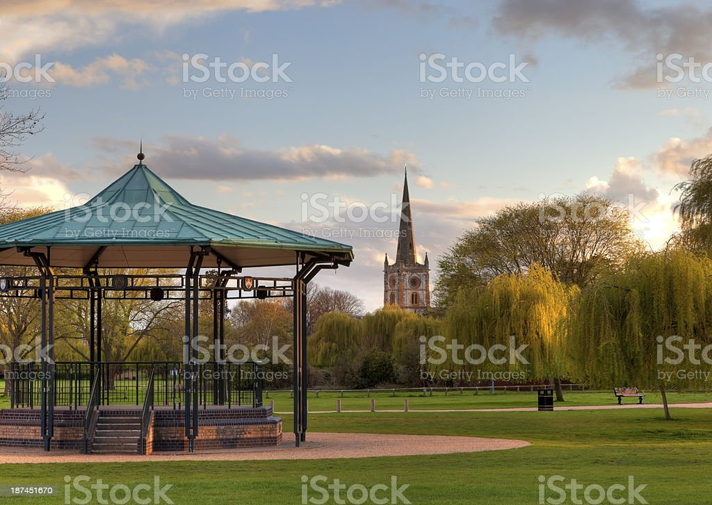 Bandstand at Stratford upon Avon stock photo