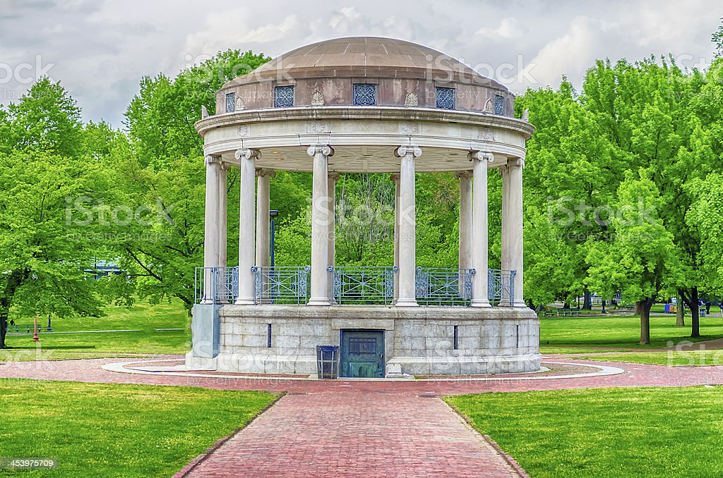 Bandstand at the Boston Common central Park stock photo