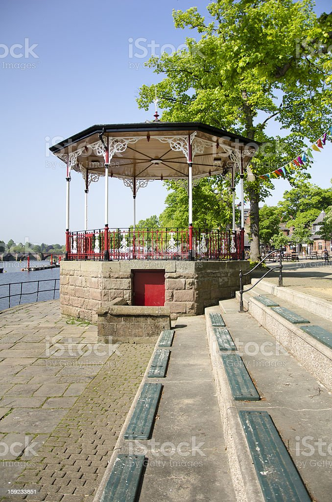 Bandstand by River Dee in English City of Chester royalty-free stock photo