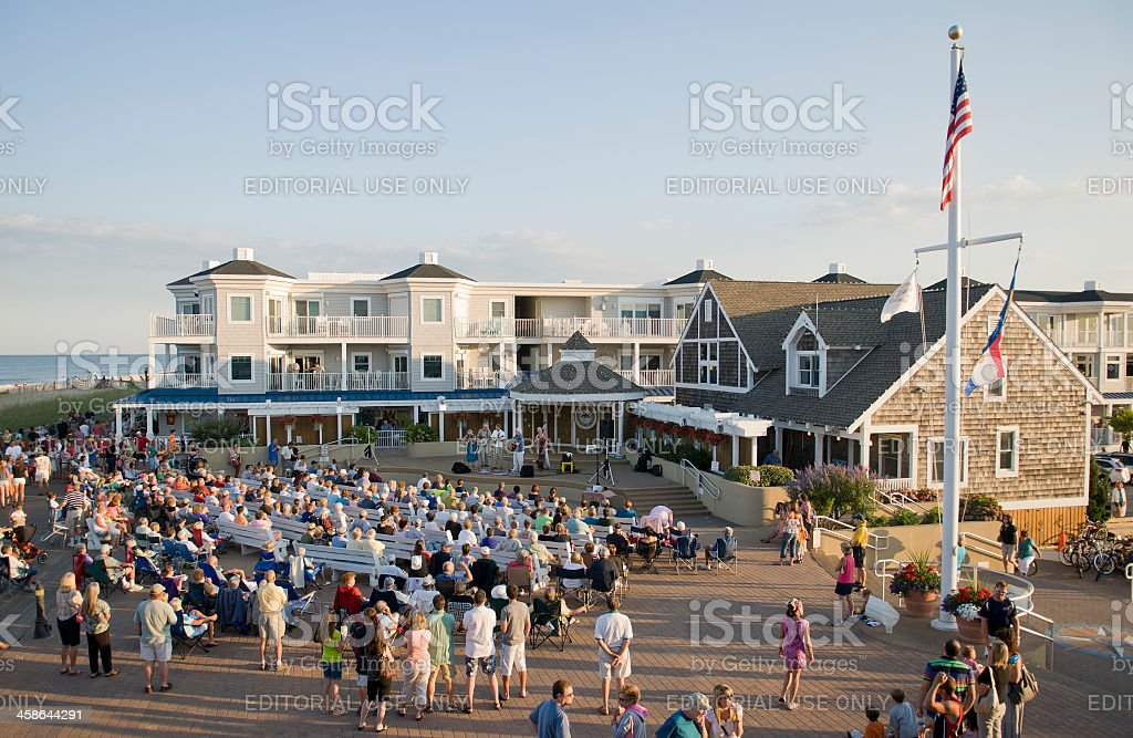 Bandstand Concert - Bethany Beach stock photo