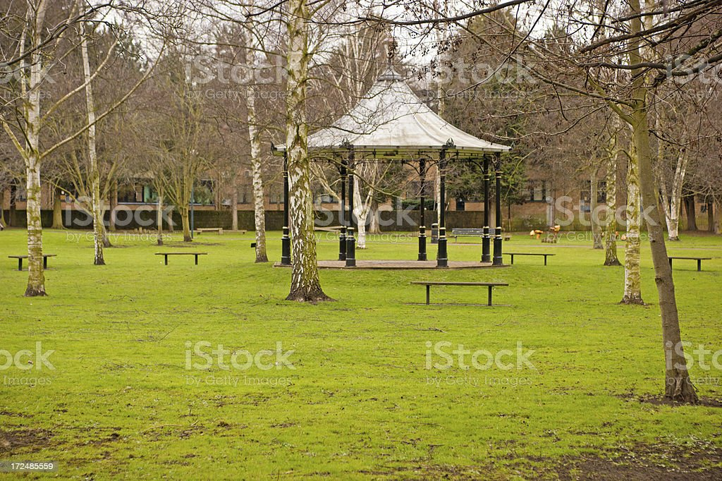 Bandstand in early spring royalty-free stock photo