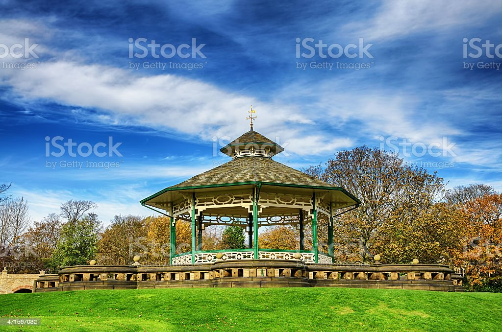 Bandstand in Greenhead park, Huddersfield, Yorkshire, England stock photo