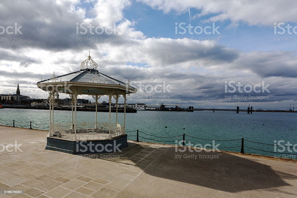 Bandstand on Dun laoghaire Pier royalty-free stock photo