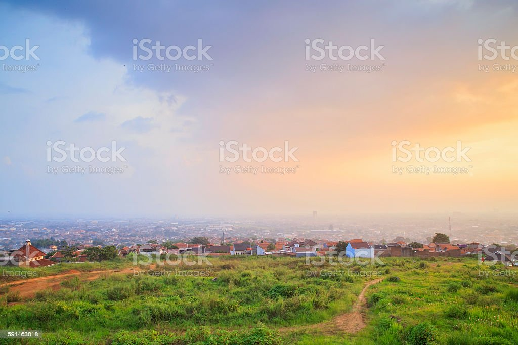 Bandung view from highlands stock photo