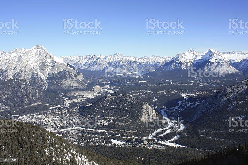 Banff Aerial View stock photo