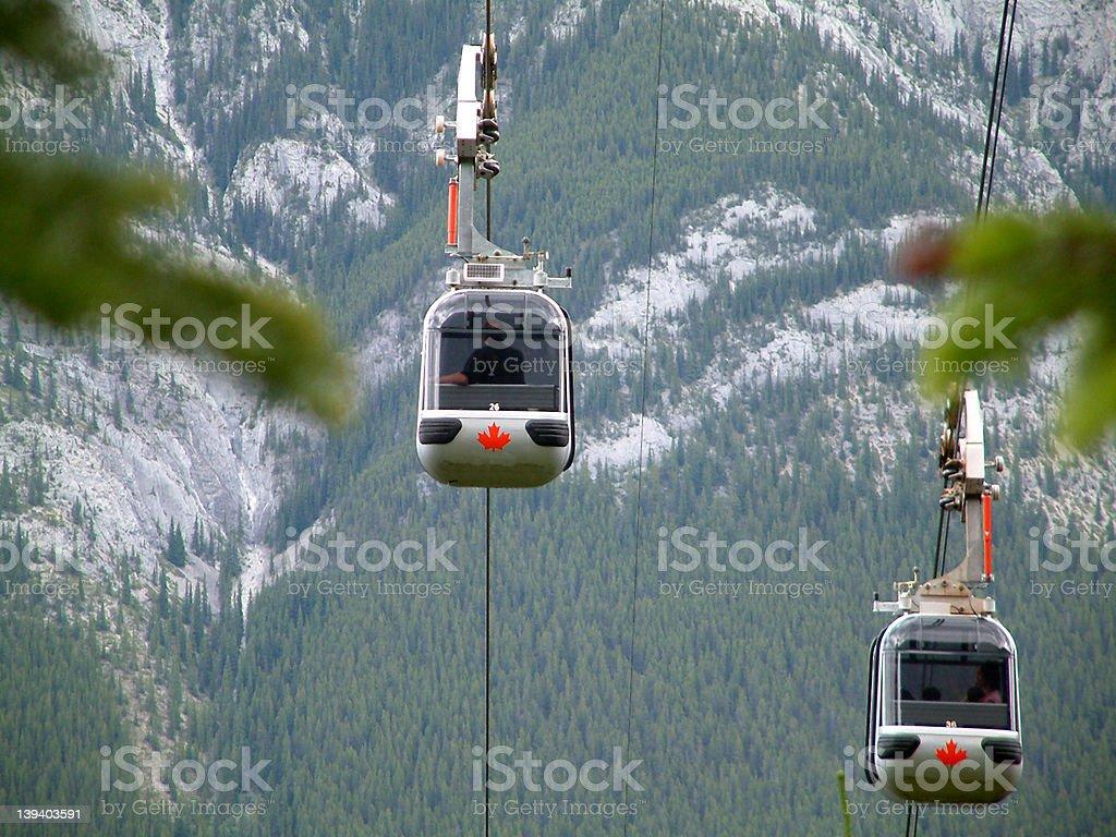 Banff gondola stock photo