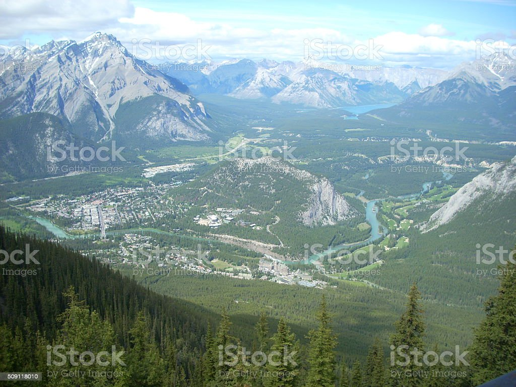 Banff in the Canadian Rockies stock photo