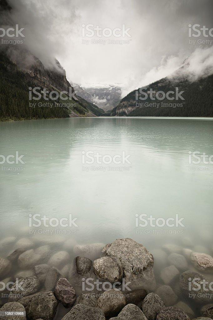Banff Lake Louise Canadian Rocky Mountains royalty-free stock photo