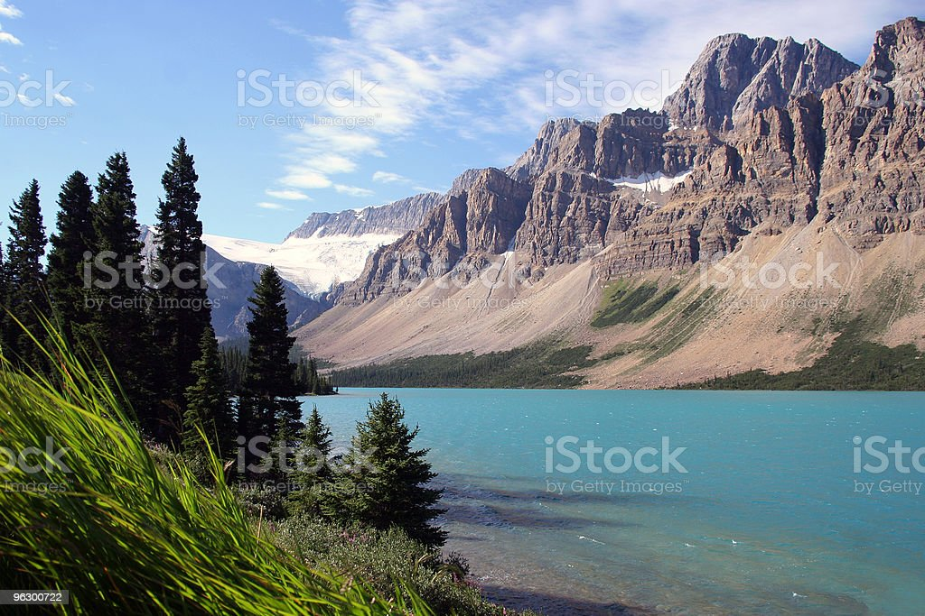 Banff National Park - Bow Lake royalty-free stock photo