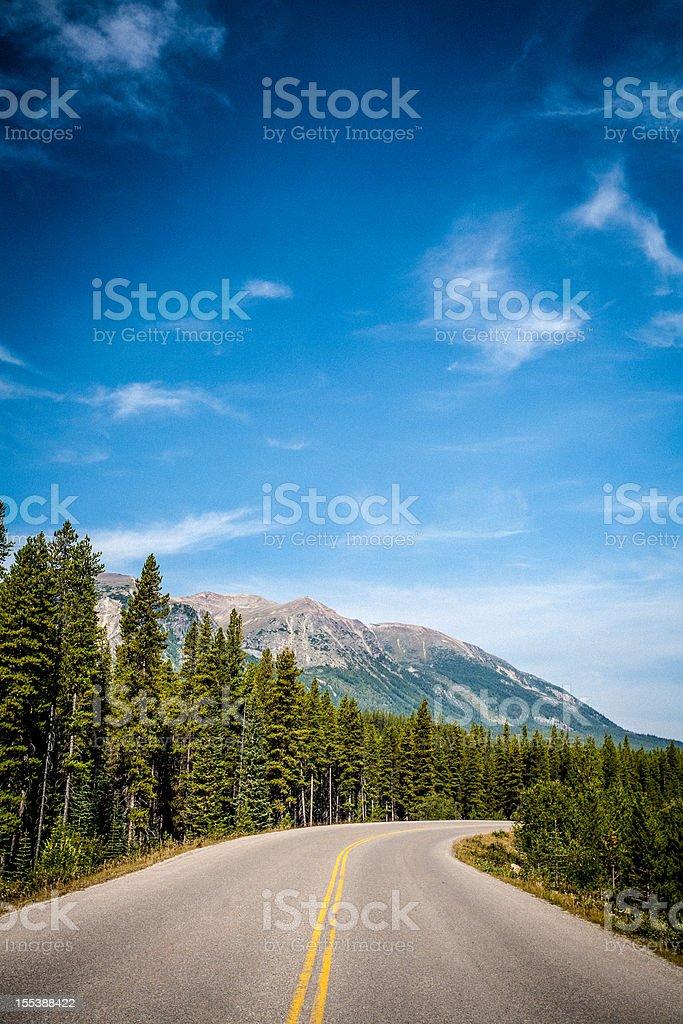 Banff National Park road royalty-free stock photo