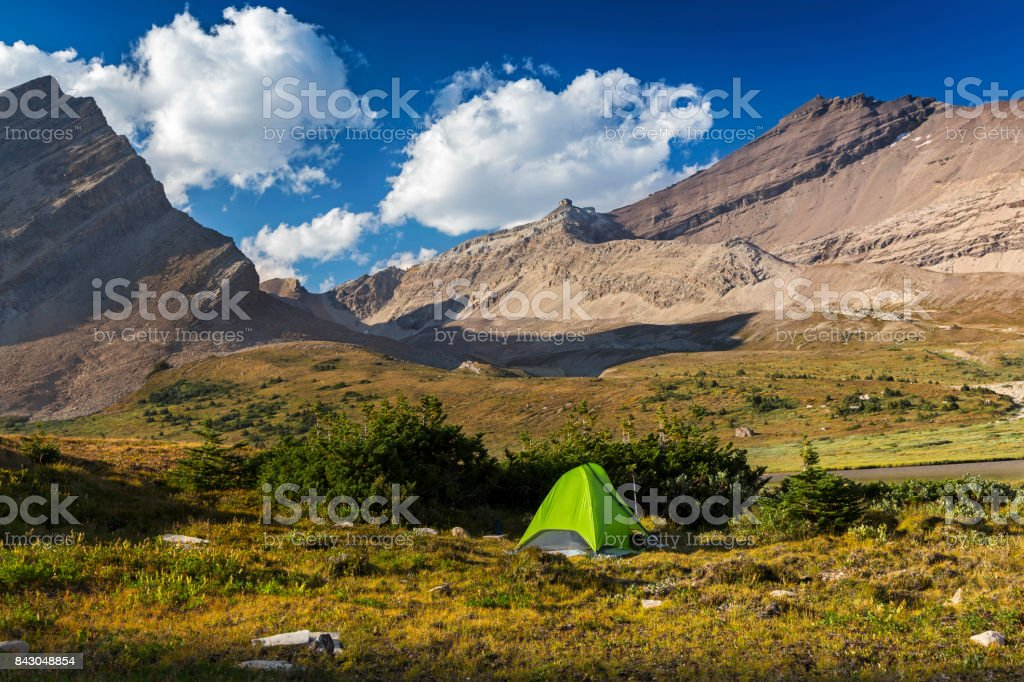 Banff National Park Wilderness Bivouac Camping Tent stock photo