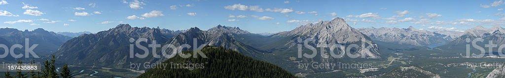 Banff Panoramic stock photo