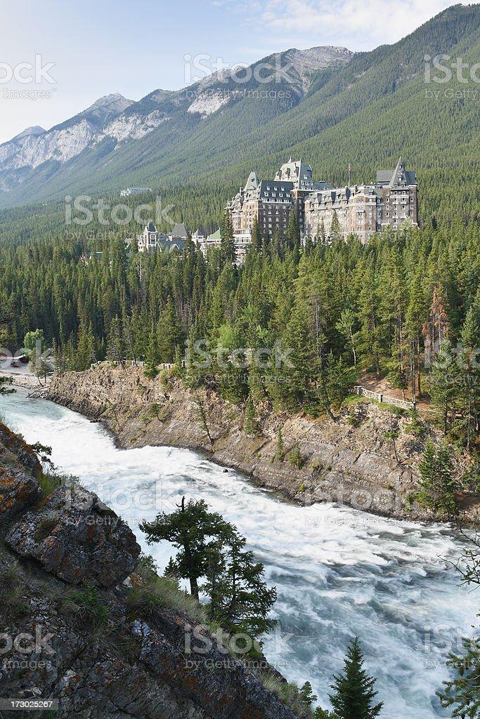 Banff Postcard royalty-free stock photo