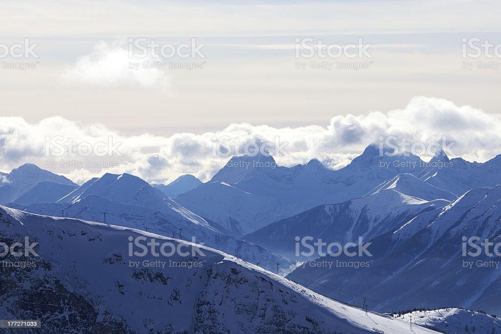 Banff Rocky Mountains Ski Resort stock photo