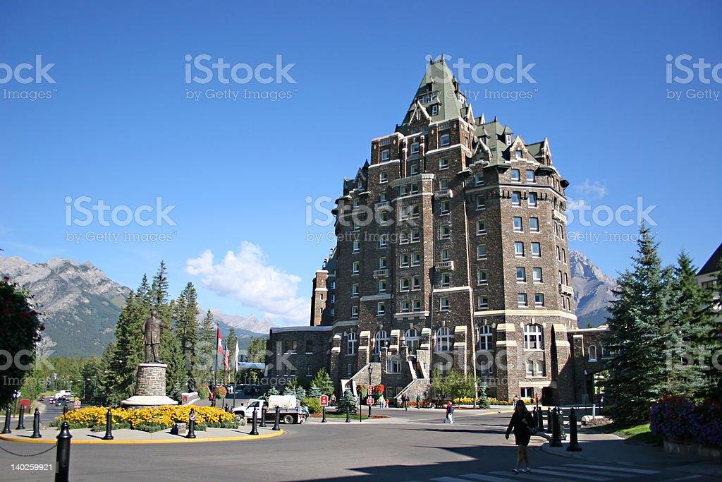 Banff Springs Hotel royalty-free stock photo