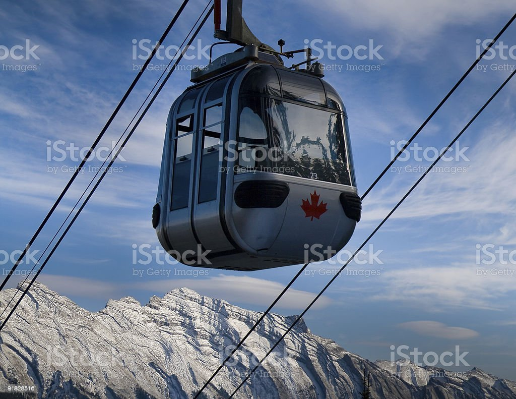 Banff Sulphur Mountain Gondola royalty-free stock photo