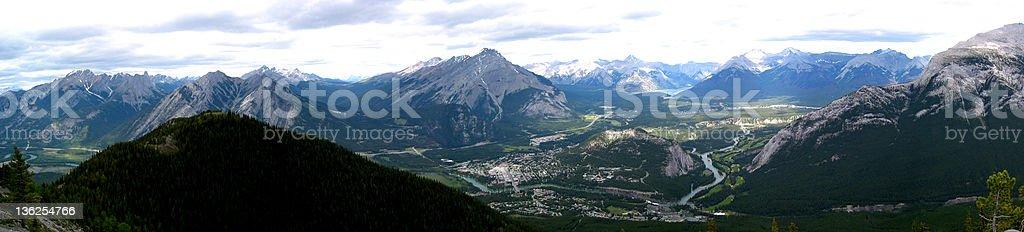 Banff Townsite royalty-free stock photo