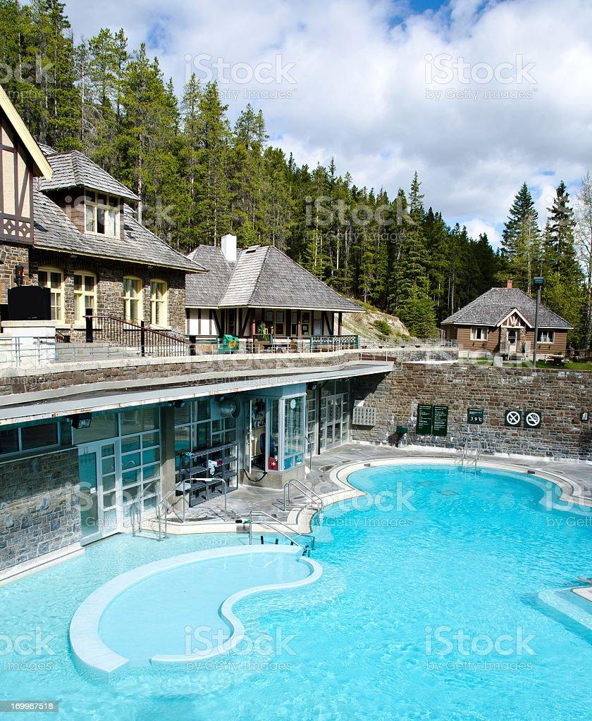 Banff Upper Hot Springs stock photo