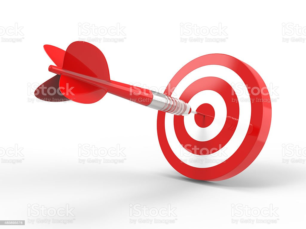 Bang on target stock photo
