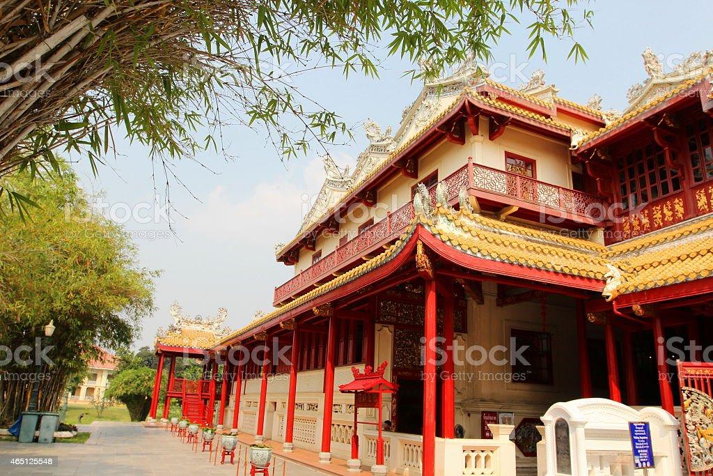 Bang Pa In Palace, Ayutthaya, Thailand stock photo