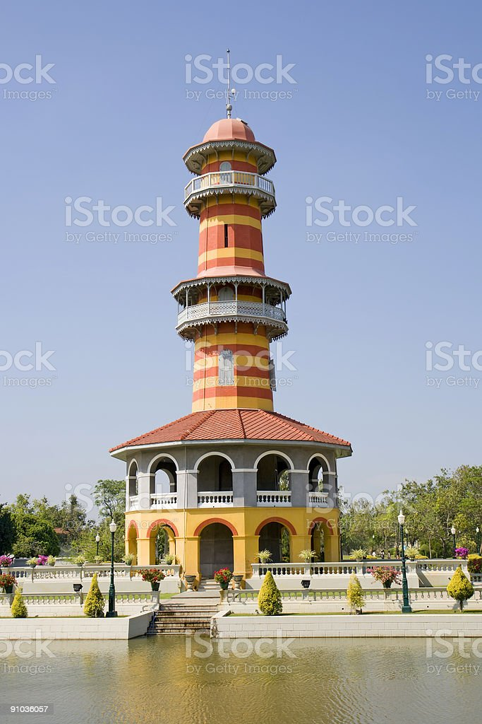 Bang Pa-In Lookout Tower royalty-free stock photo