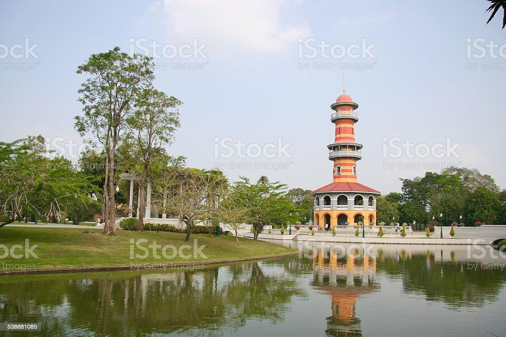 Bang Pa-In Palace at Ayutthaya , Thailand stock photo