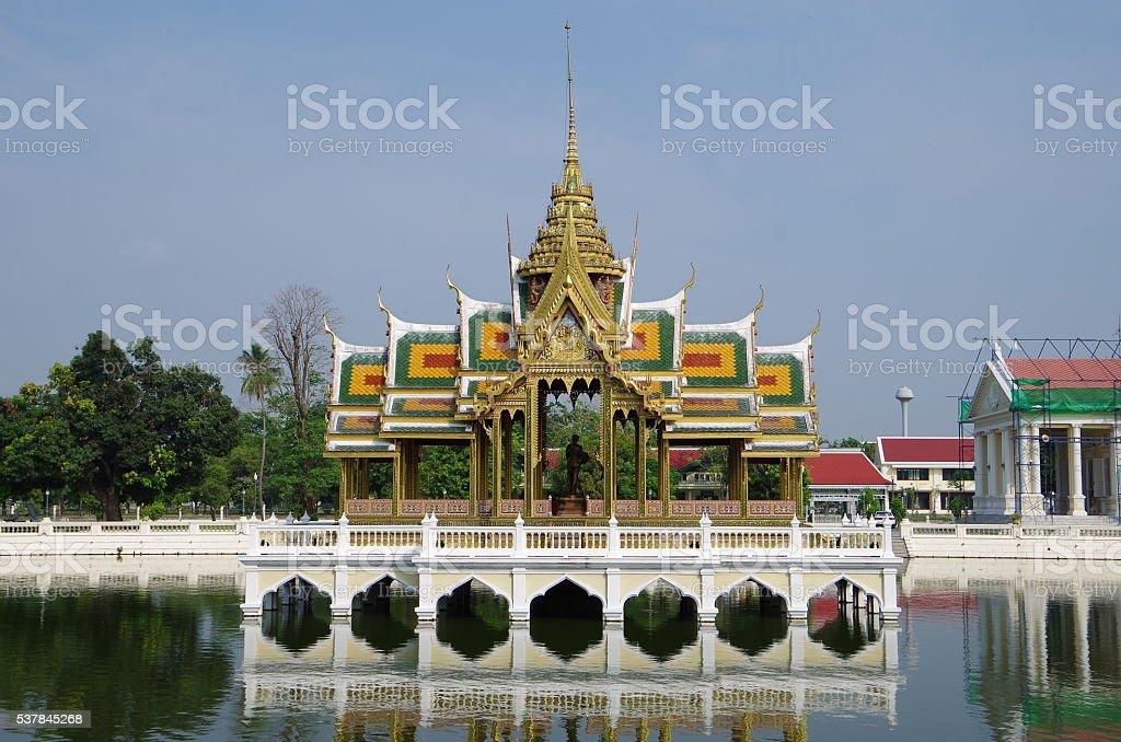 Bang Pa-en Palace en Tailandia foto de stock libre de derechos