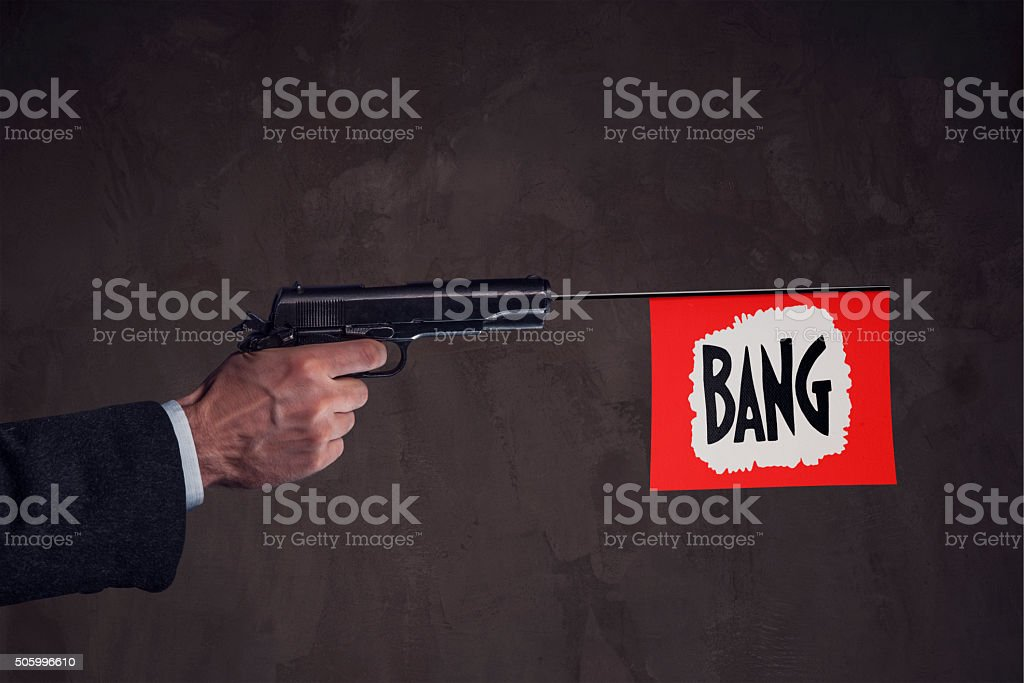 Bang stock photo