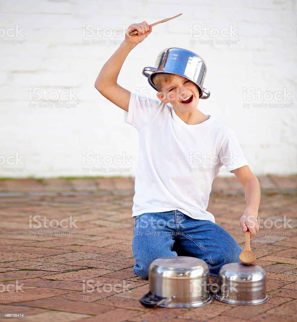 Bang the drums stock photo