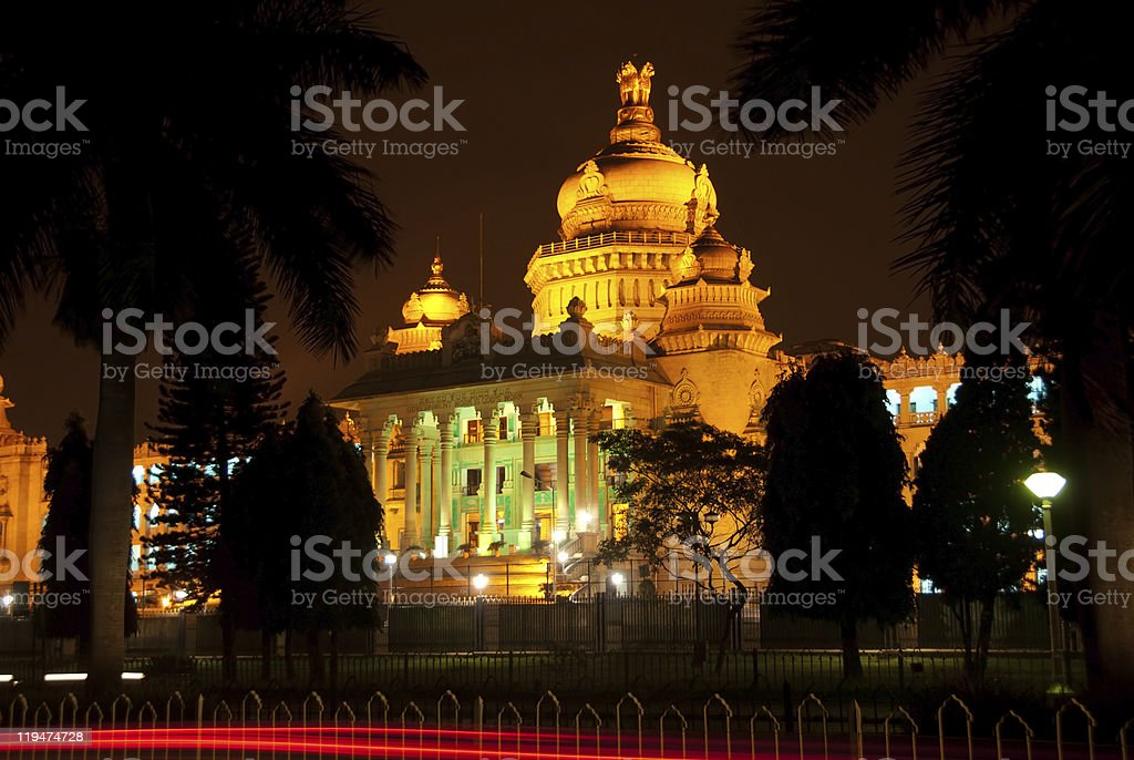 Bangalore at night stock photo
