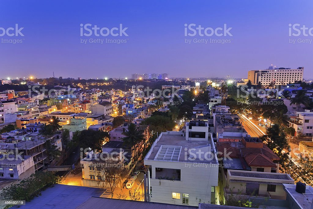 Bangalore city skyline, India stock photo