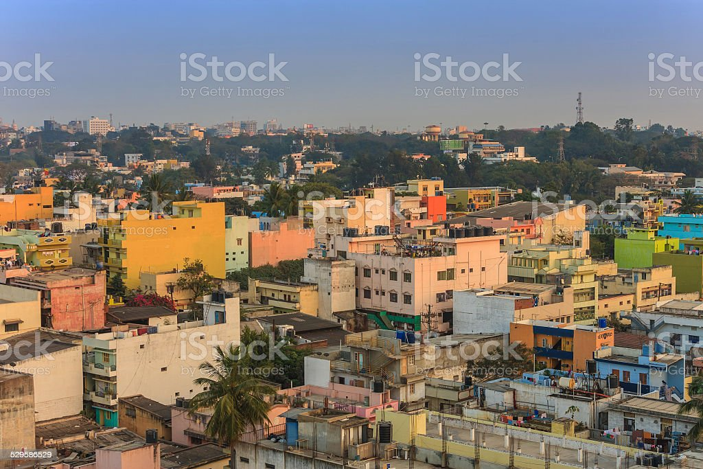 Bangalore city skyline stock photo